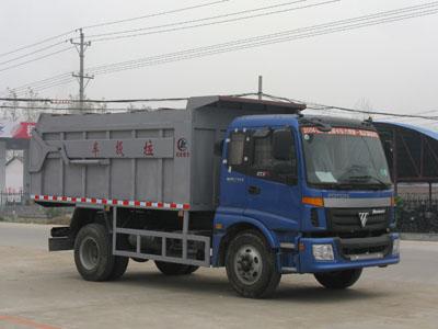 福田双轴货箱后卸垃圾车